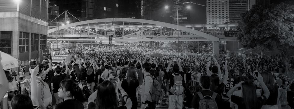 Firechat utilisé par des manifestants à Hong Kong