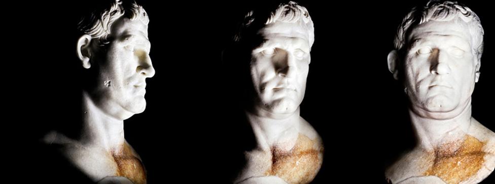 photographie d'un buste romain par Olivier Roller