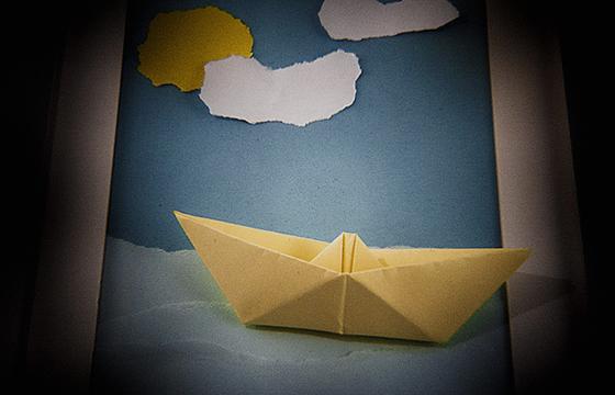 Je suis capitaine de bateau en papier